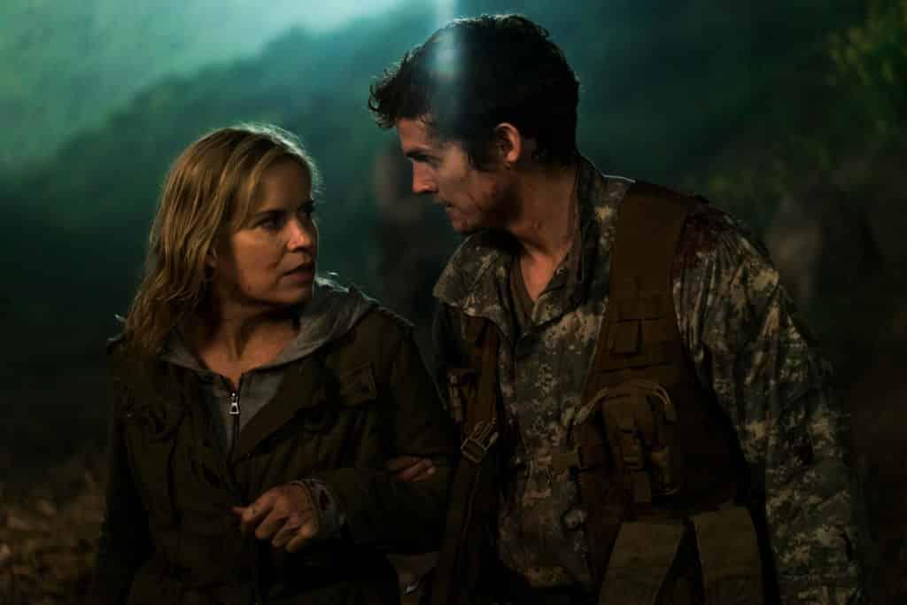 Kim Dickens as Madison Clark, Daniel Sharman as Troy Otto - Fear the Walking Dead _ Season 3, Episode 5 - Photo Credit: Richard Foreman, Jr/AMC