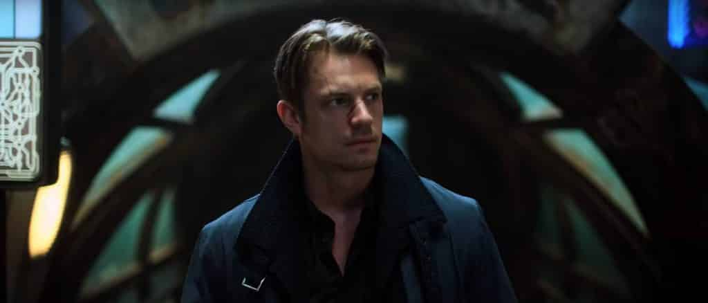 Joel Kinnaman plays Takeshi Kovacs in Altered Carbon