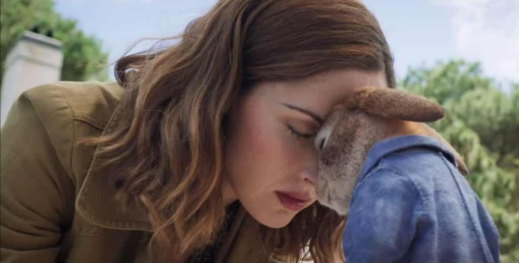 Rose Byrne (Bea) with James Corden (Peter Rabbit) - Peter Rabbit Review