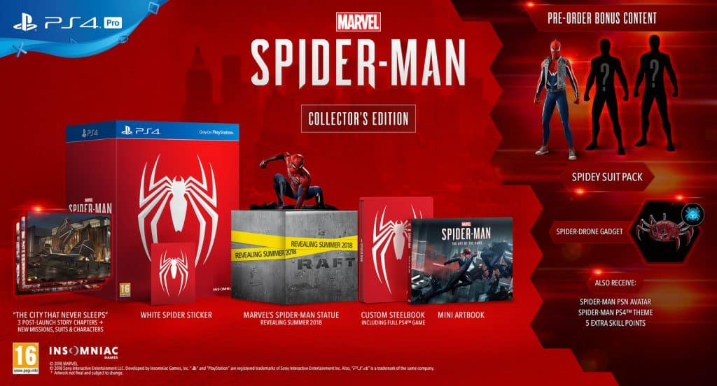 Spider Man PS4 Different Editions - Spider Man PS4 Release Date is September 7