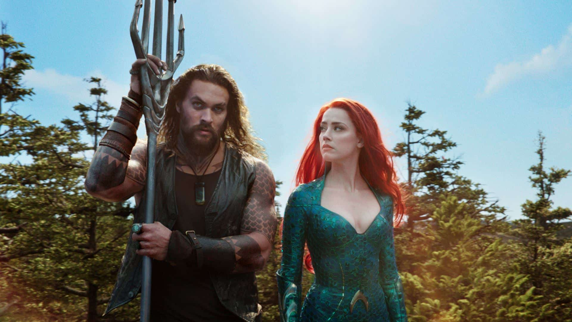 Jason Momoa and Amber Heard in Aquaman