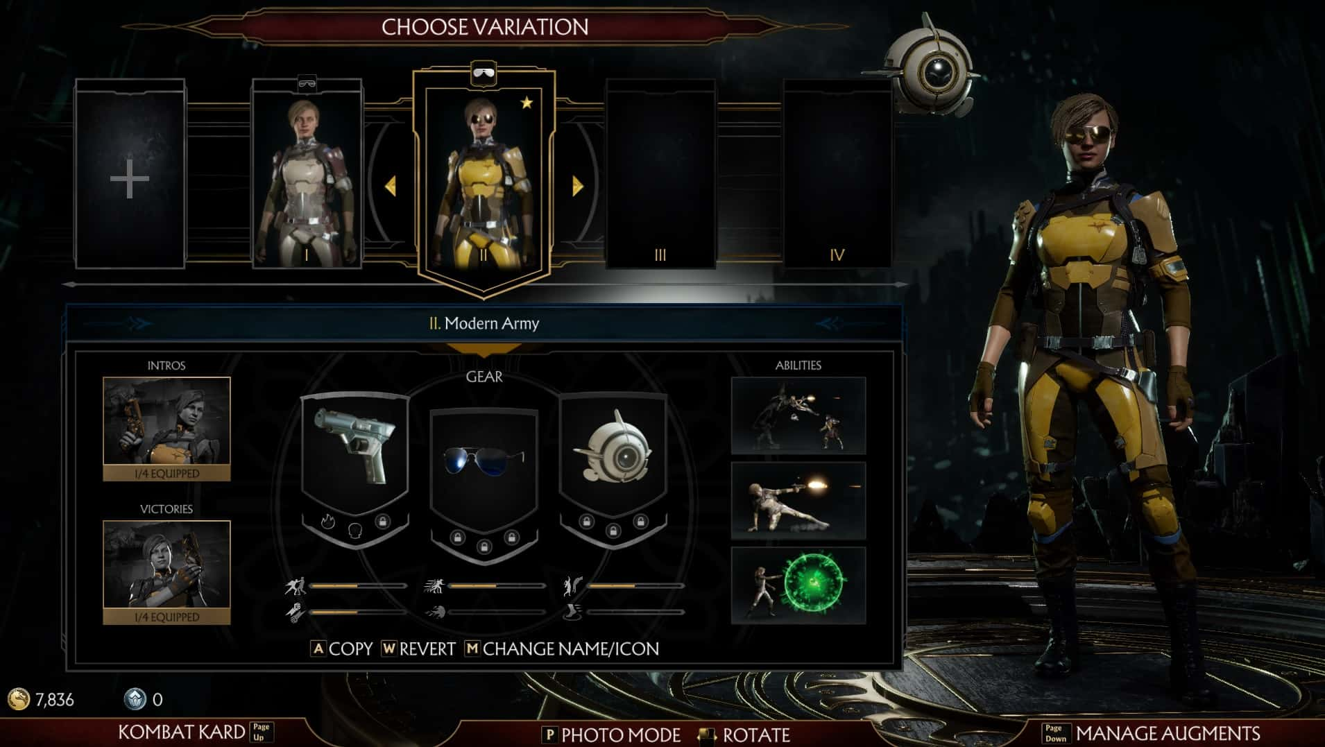 Mortal Kombat 11 character customisation screen - Mortal Kombat 11 Review