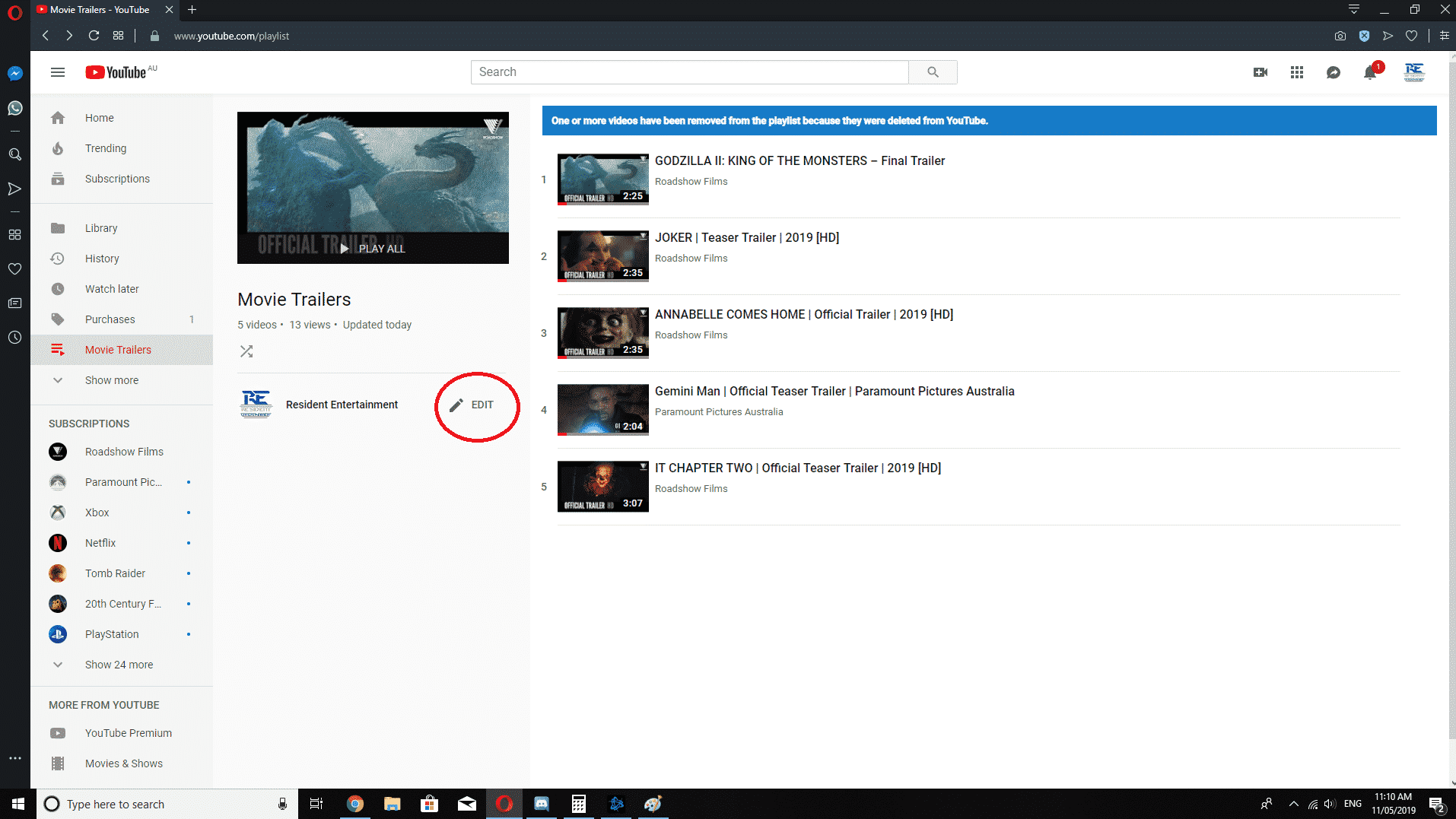 How To Change YouTube Playlist Order Step 4