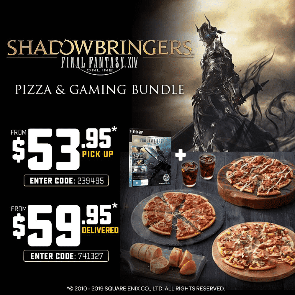 Final Fantasy XIV and Domino's Pizza promotion